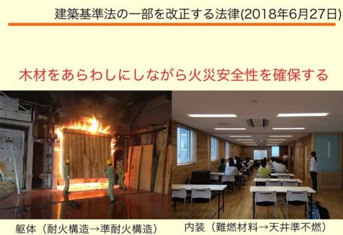 建築基準法の改正によって、木材を現しにしながら火災安全性を確保することが可能になる(資料:安井 昇)