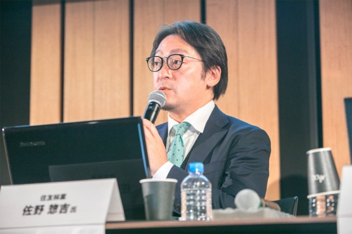 住友林業市場開発部副部長の佐野惣吉氏(写真:渡辺 慎一郎)