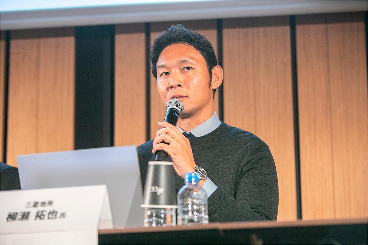三菱地所住宅業務企画部兼新事業創造部主事の柳瀬拓也氏(写真:渡辺 慎一郎)