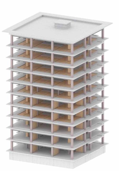 (仮称)泉区高森2丁目プロジェクトでは、鉄骨造+木造の混合構造を採用した(資料:三菱地所)