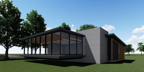 帝人が同社敷地内での建設事業を進めている建物の完成イメージ(資料:帝人)