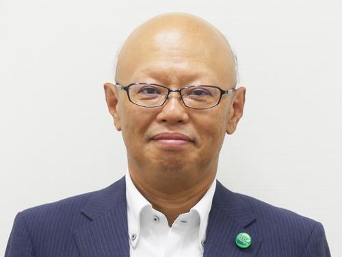 図1 三菱電機 電子システム事業本部 宇宙システム事業部長の中畔弘晶氏