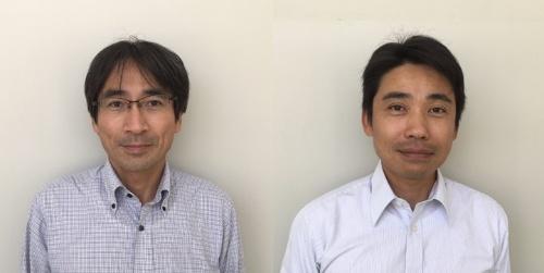図2 シャープ ビジネスソリューション事業本部の化合物事業推進部 部長の高本達也氏(左写真)と同部 課長の山口洋司氏(右写真)