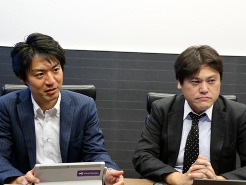 数多くのOS移行プロジェクトを手掛けてきた富士ソフトMS事業部の増田裕正MSサービス推進室長(左)と、同事業部の大江聡一郎ソリューショングループ主任
