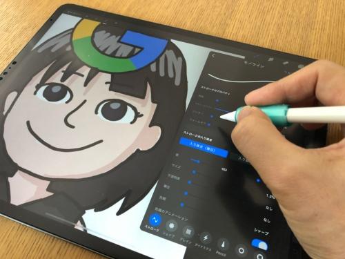 筆者の連載記事に掲載しているイラストはiPad ProとApple Pencilで描いている。12.9インチiPad Proで作業効率が上がった