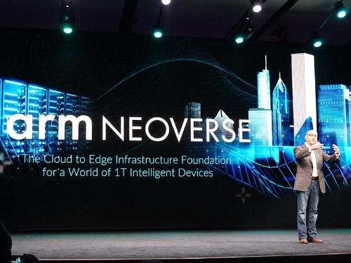 サーバープロセッサの新ブランド「Neoverse」の発表風景