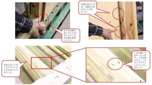 軸材に残ったくぎの特徴(写真:澤田 聖司)