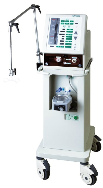 日本製の人工呼吸器「ALV3000」