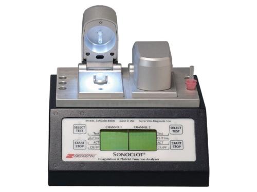 アイ・エム・アイが輸入・販売している米サイエンコ社製の血液凝固・血小板機能分析装置「SonoclotモデルSPC2」