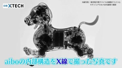 内部構造をX線で撮った、aiboのレントゲン写真です!
