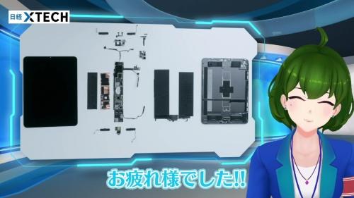 新型iPad Pro分解終了です!大きなリチウムイオン2次電池が目立ちますね!