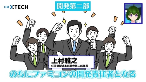 のちにファミコンの開発責任者となる上村雅之が率いる開発第二部は業務用ゲーム機を手掛けていました