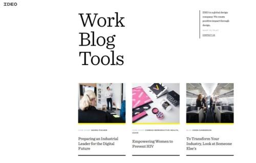米IDEOのWebサイト