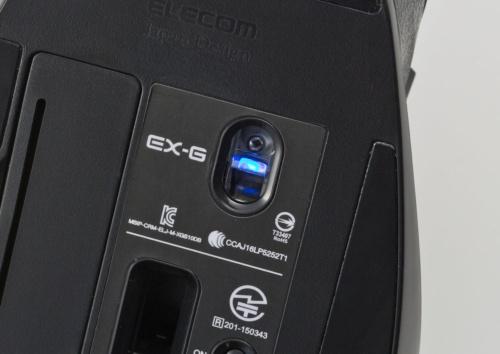 エレコムの「EX-G ワイヤレス BlueLED マウス」のうち「M-XGM10DBXBK」は、ブルーLED方式のマウス。実勢価格は約2900円。なお本記事中の価格はいずれも税別である