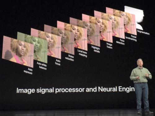 米アップルのSoC「A12 Bionic」のNPUを使った画像処理