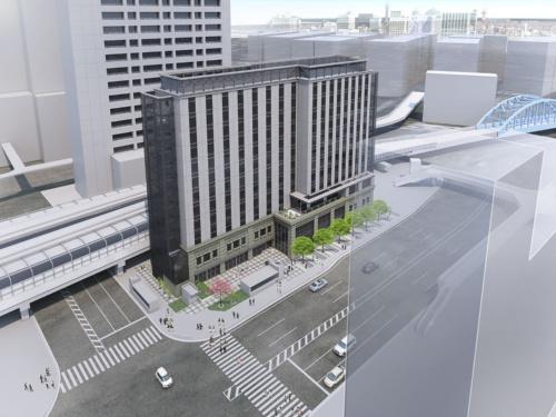 JR桜木町駅の南側にできる「JR桜木町ビル」のイメージ図(資料:JR東日本)