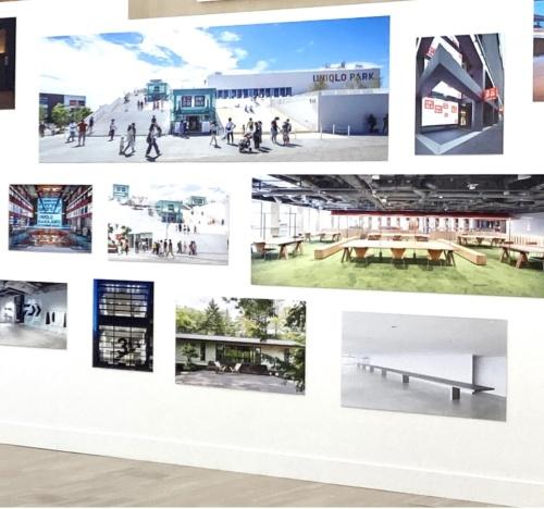 佐藤氏が長年関わるユニクロの店舗デザインなどを紹介(写真:SAMURAI)