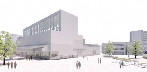 八戸市美術館の完成イメージ(資料:八戸市美術館)