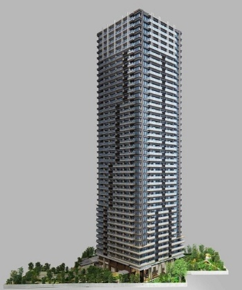 NAGOYA the TOWERは2023年4月に竣工すると、名駅周辺で最高層のタワマンになる(資料:総合地所、名鉄不動産、京阪電鉄不動産、大和ハウス工業、三交不動産、住友商事)