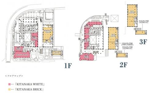 「北仲ブリック」と「北仲ホワイト」の平面図(資料:三井不動産レジデンシャル、丸紅)