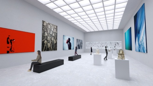 世界的なアートギャラリーの誘致を検討(資料:チームラボ)