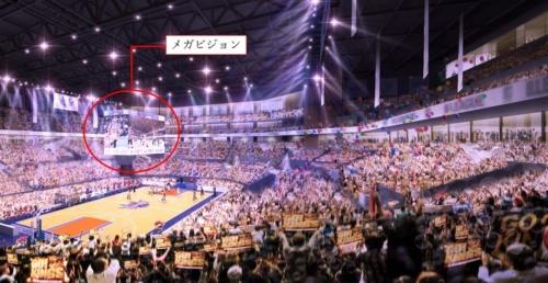 バスケットボールの試合時のイメージ(資料:沖縄市)
