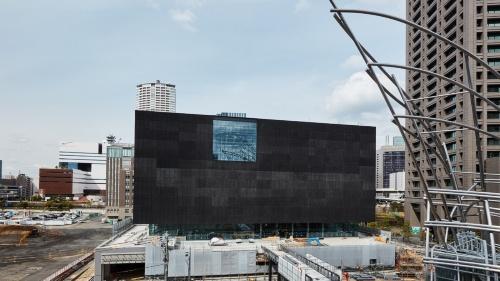 大阪市の中之島で建設が進む「大阪中之島美術館」。2021年3月に撮影(写真:大阪中之島美術館準備室)