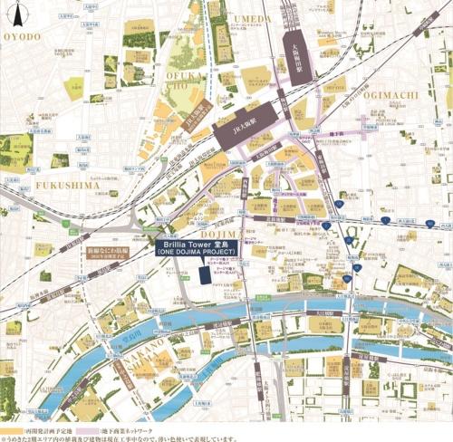 計画地は堂島川に近く、JR大阪駅も徒歩圏内だ(資料:東京建物)