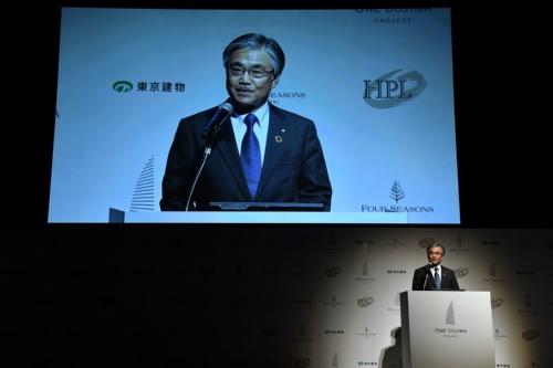 「ONE DOJIMA PROJECT」を発表した、東京建物の野村均代表取締役 社長執行役員(写真:東京建物)