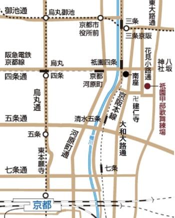 「祇園甲部歌舞練場」の周辺マップ(資料:帝国ホテル)