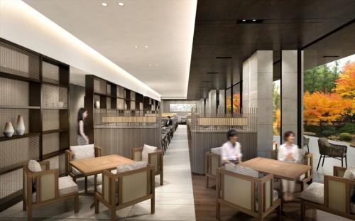 庭園を望むレストランのイメージ(資料:ホテルオークラ、三菱地所)