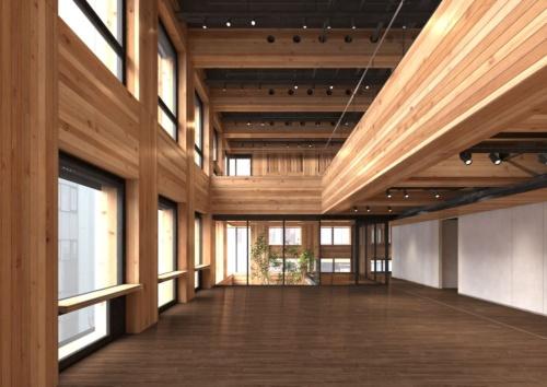 6階研修スペースの内観イメージ(資料:大林組)