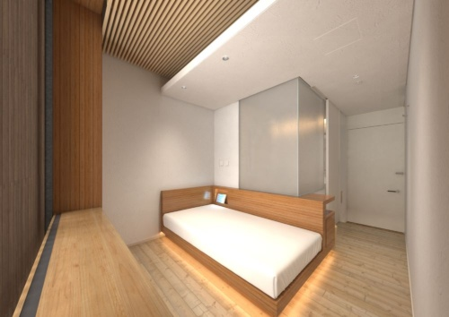 宿泊室の内観イメージ(資料:大林組)