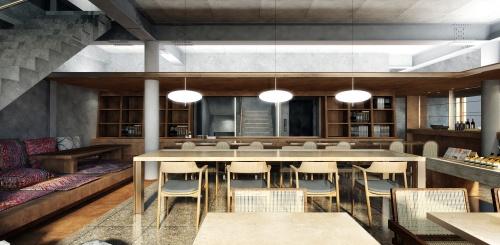 1階飲食店の完成イメージ(資料:サポーズデザインオフィス)