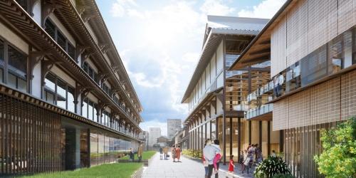 新しくなる新道通エリアのイメージ(資料:NTT都市開発)