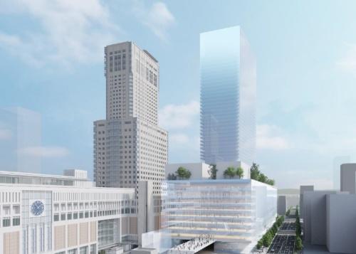再開発で誕生する施設のイメージ(資料:札幌駅交流拠点北5西1・西2地区市街地再開発準備組合)