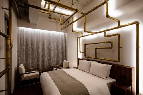 アーティストのレアンドロ・エルリッヒ氏がデザインした部屋(写真:Shinya Kigure)