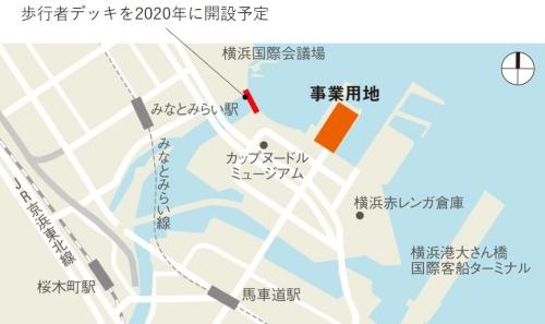 横浜ハンマーヘッドの立地。みなとみらい21地区の新港ふ頭に位置する(資料:日経アーキテクチュア)