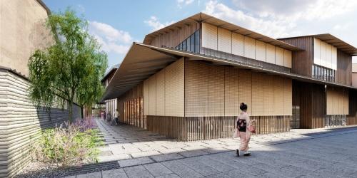 建て替え後の宮川町歌舞練場のイメージ(資料:NTT都市開発)