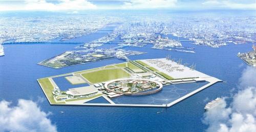 海も会場の一部とする(資料:2025年日本国際博覧会協会)