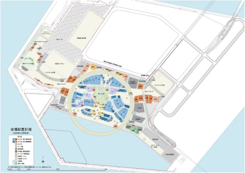 会場の配置計画(資料:2025年日本国際博覧会協会)