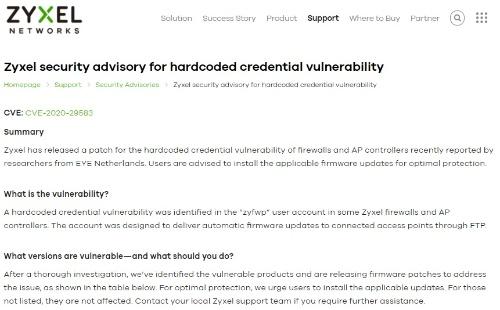 ネットワーク機器の脆弱性に関するセキュリティー情報