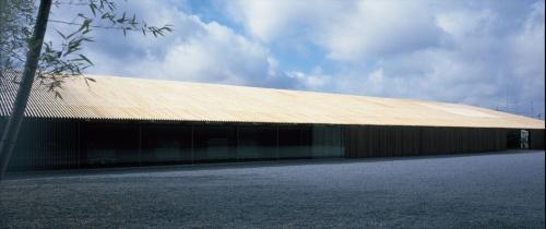 馬頭町広重美術館(現・那珂川町馬頭広重美術館)の北側外観(写真:三島 叡)