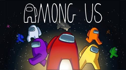 AMONG USのタイトル画面