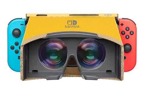 「Nintendo Labo: VR Kit」に含まれる段ボール製ケース「VRゴーグルToy-Con」にNintendo Switchを差し込んだところ。(画像:任天堂)