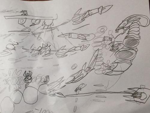 長男のオリジナルゲームの構想図