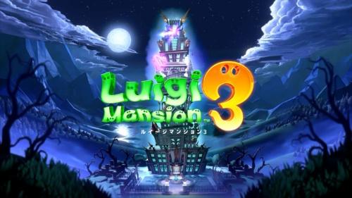 「ルイージマンション3」のタイトル画面