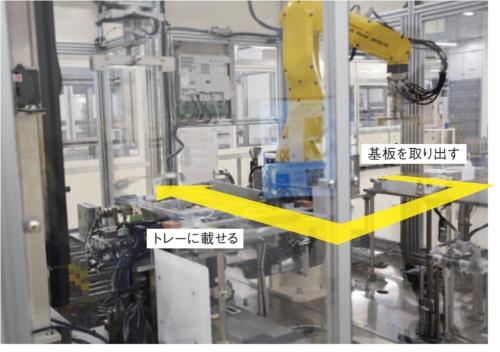 TDK鶴岡東工場の薄膜コイルのめっき前工程を自動化する装置