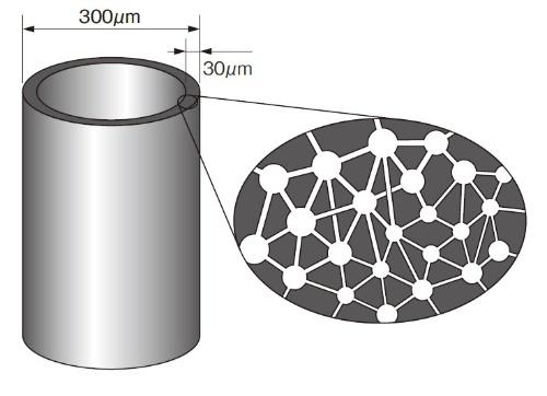 図3 プラノバに使う中空糸の構造