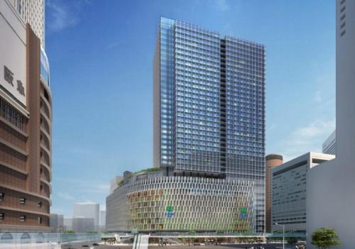 北側から見た大阪梅田ツインタワーズ・サウスの完成予想図(資料:阪急阪神ホールディングス)